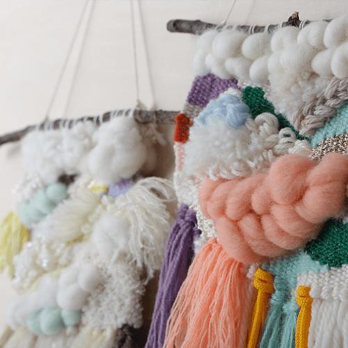 毛糸で個性を編み込むインテリア、ウィービングタペストリーの作り方