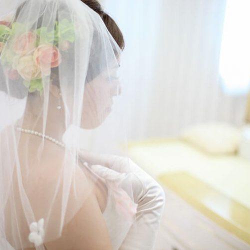 お花のウェディングヘッドドレスの作り方