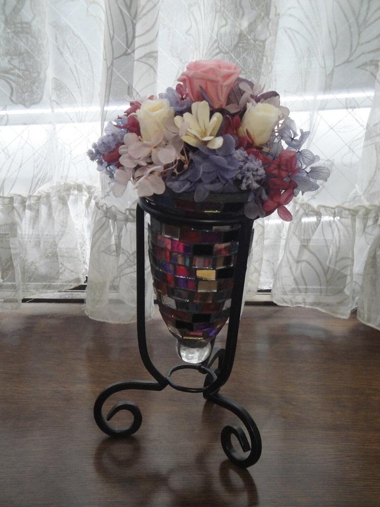 プリザーブドフラワーあじさいと花瓶