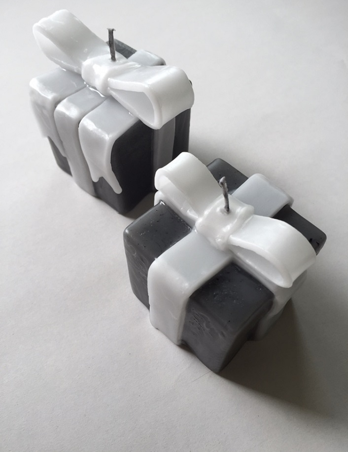 プレゼントボックス型キャンドル