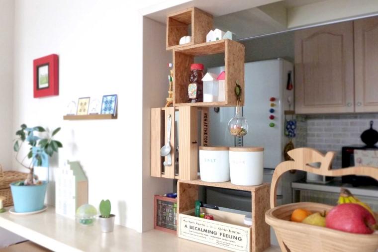 キッチンの調味料棚をDIY!木箱を使って簡単おしゃれに手作りしよう