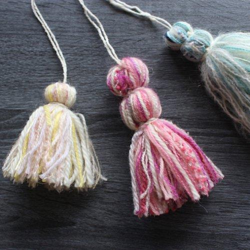毛糸のポンポンタッセルの作り方