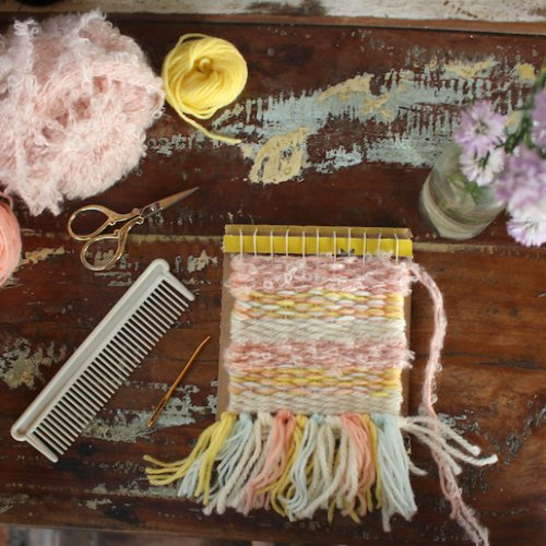 手織り物を作ろう!②ウィービングタペストリーの作り方