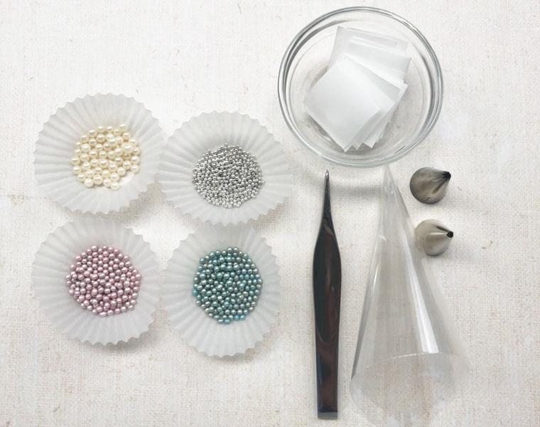 海モチーフのアイシングパーツの作り方 材料