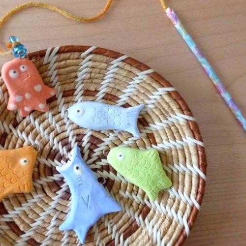 紙粘土で手作りする『魚釣りのおもちゃ』のレシピ