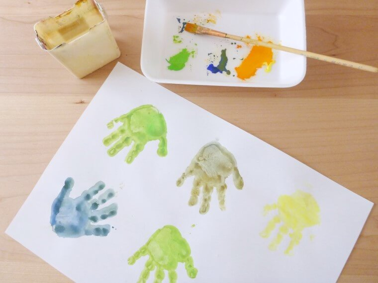 手形アートの作り方