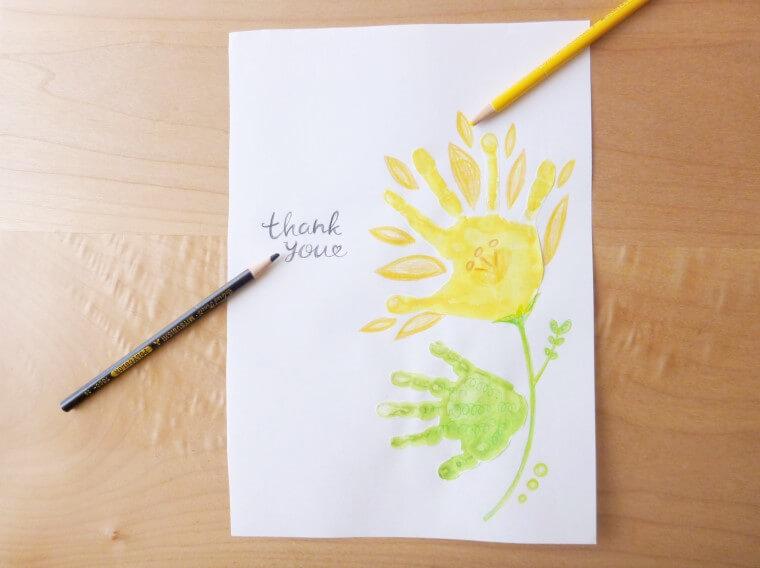 お花の手形アート