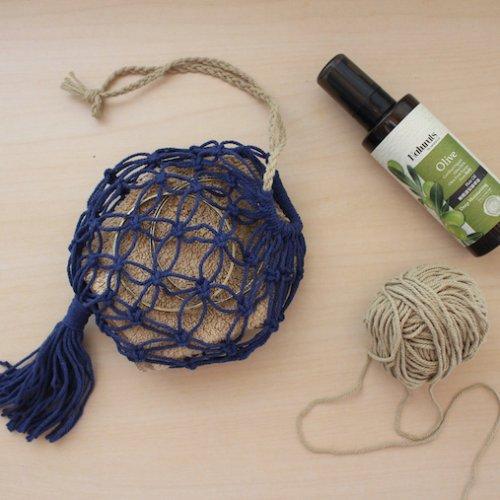 マクラメのバッグのかんたんな編み方