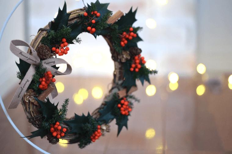 クリスマスリースの作り方