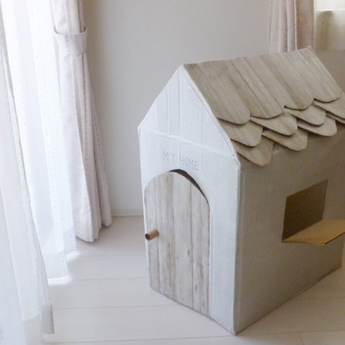 ダンボールハウスの作り方。子ども用の小さなお家を作りませんか?