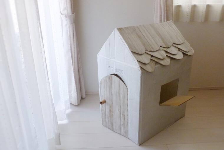 ダンボールハウスの作り方 子ども用の小さなお家を作りませんか?