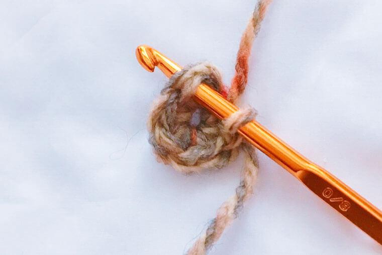 がまぐちポーチの編み方