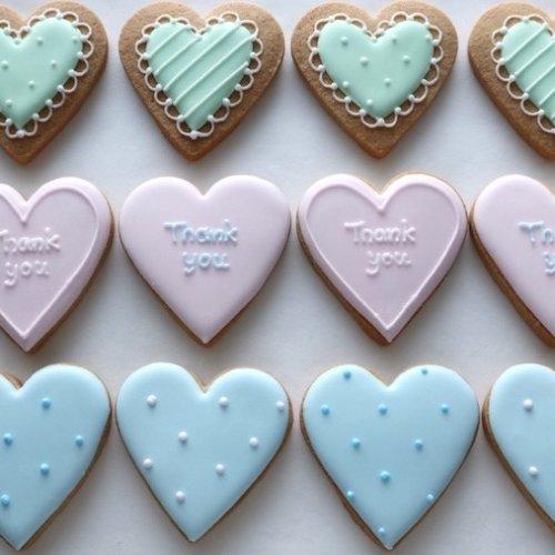 ハート型のアイシングクッキーの作り方