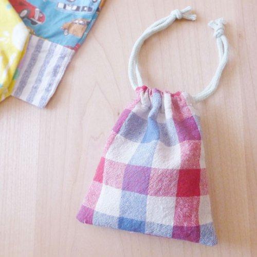 巾着袋の作り方、初めてのハンドメイドに