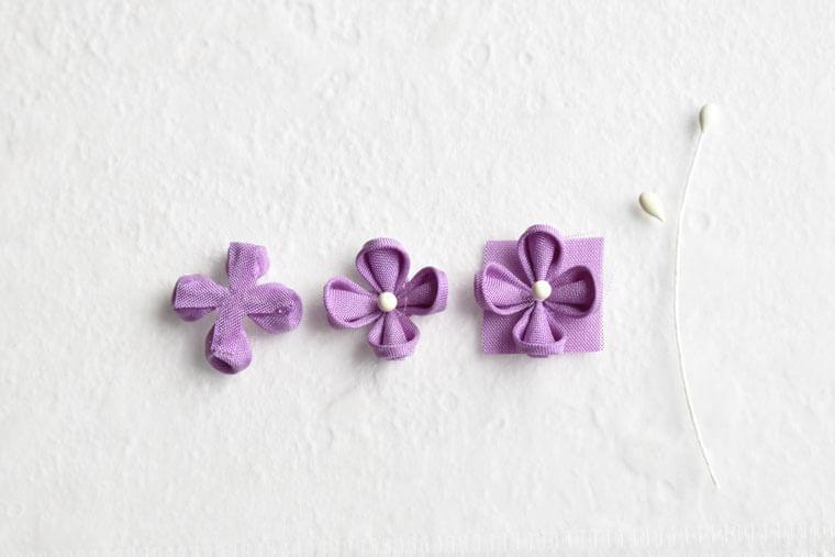 つまみ細工 紫陽花