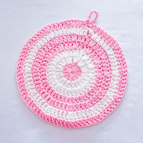 鍋敷きの編み方 かぎ針の練習をしよう