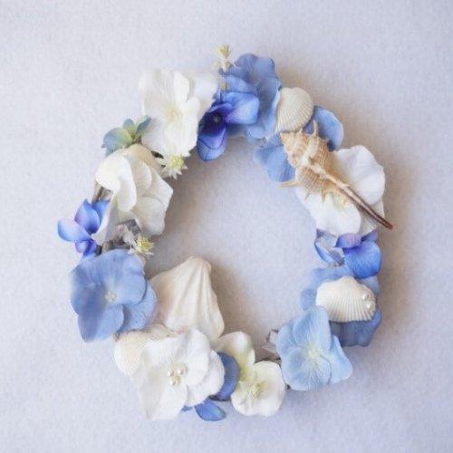 貝殻とお花のサマーリースのレシピ