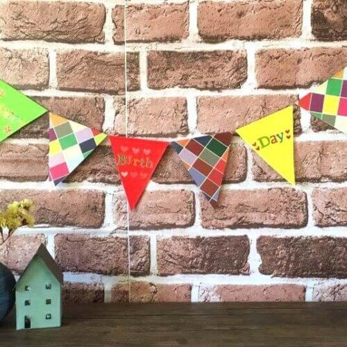 折り紙のデコレーションガーランドの作り方