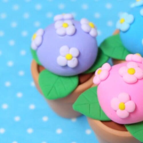 粘土で作る紫陽花のレシピ