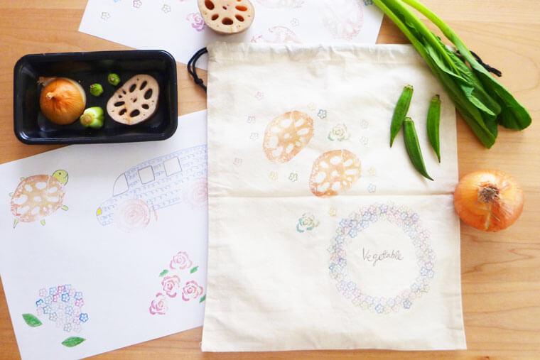 野菜スタンプの作り方   大人も子どもと楽しめます
