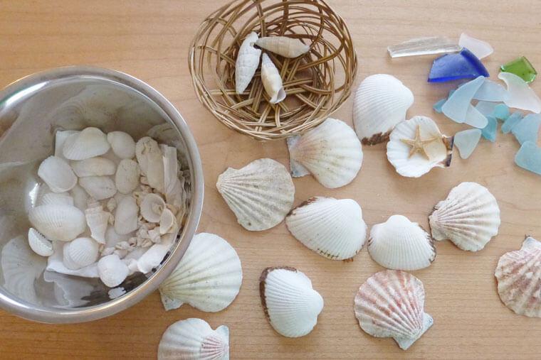 貝殻で工作しよう!フォトフレーム&ルームプレートの作り方