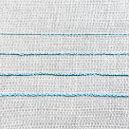 アウトラインステッチのやり方 刺繍の基本ステッチ