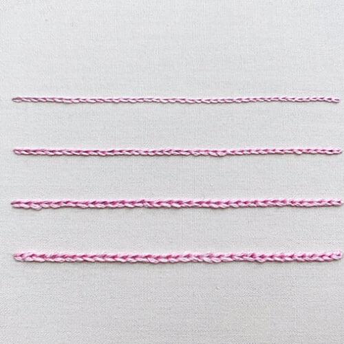 チェーンステッチのやり方 刺繍の基本ステッチ