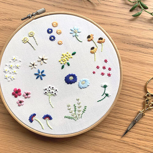お花の刺繍のやり方 初心者におすすめモチーフ<図案つき>
