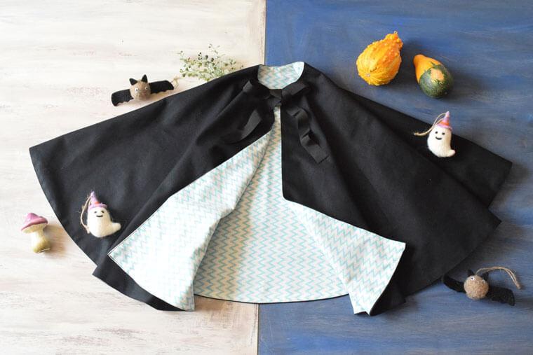 ハロウィンの仮装マントを手作りしよう(子どもサイズ)