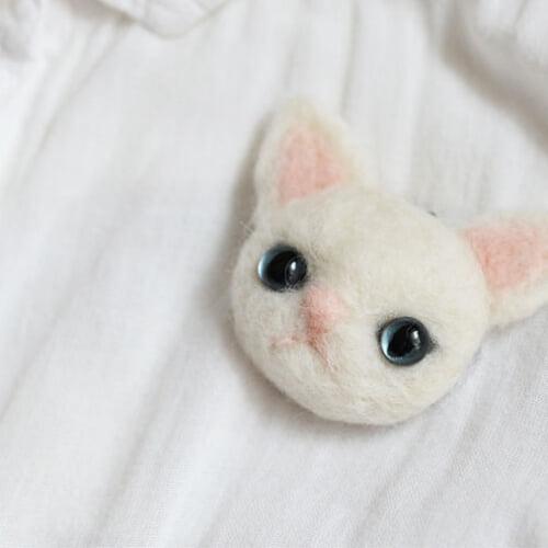 羊毛フェルト猫の作り方