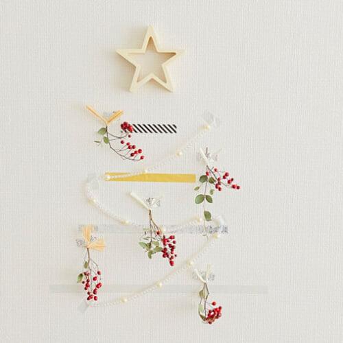 ウォールツリーの作り方 マステで作るオリジナルのクリスマスツリー
