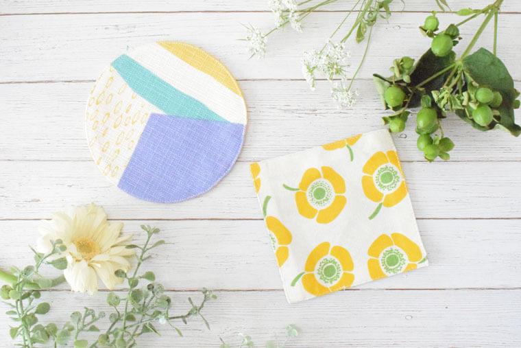 テーブルをおしゃれに彩る、布を使ったコースターの作り方