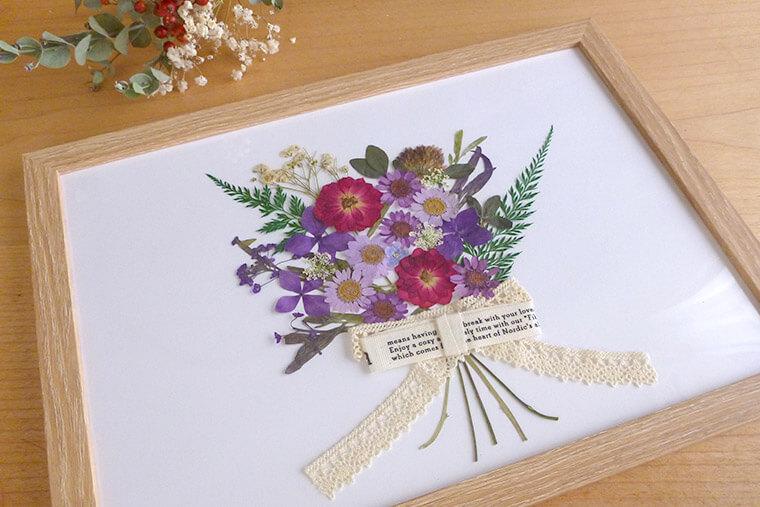フレームの中で咲く「押し花アート」で暮らしに彩りを