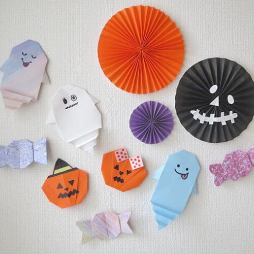 折り紙で作ろう! ハロウィン飾り4種の折り方